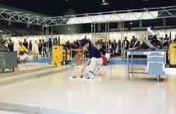 ビルクリーニング技能競技中国大会の様子